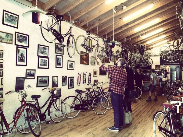 Bicycle Bicycles Vintage Bicycles Classic Bicycle Vintage Buying A Bike Bikes Vintage Bike Couple Showcase: February Bike Shop Vintage Shopping Couple Shopping Old Bicycle Old Bikes Nostalgia Hipsters