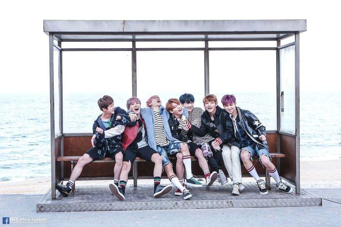 BTS Bus Stop Korea Teamwork People Love Blue YNWA Man Handsome Cute Idol Star