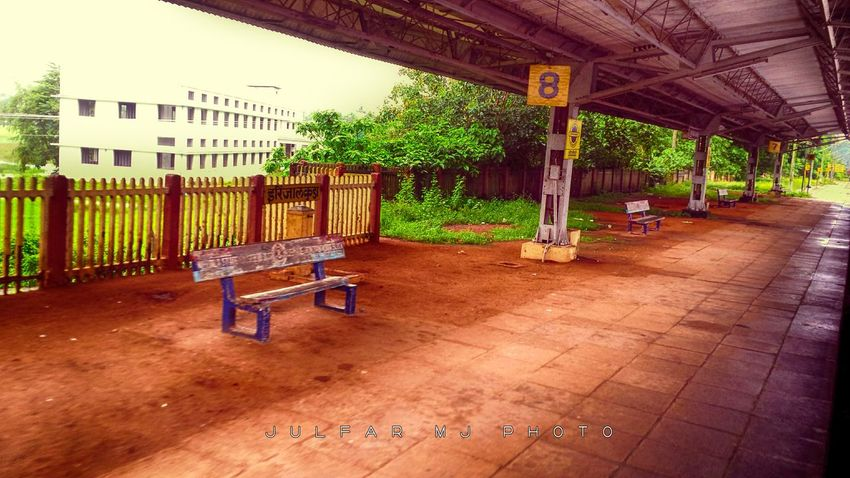 The Village Railway Station of Kerala JULFAR MOH'D JULFAR MJ PHOTO JULFARMJ JULFARMJPHOTO Rain Taking Photos Transportation Travel Traveling Tree Architecture Built Structure Chair Day Grass Julfar Julfarmj Landscape Outdoors Photography Picoftheday Picture Railway Riding Scenery Train Travel Destinations Tree