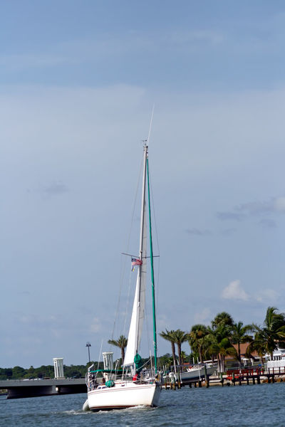 Boat Flowers Mast Mode Of Transport Nautical Vessel Outdoors Sailboat Saint Petersburg Florida Scenics Tampa Bay Tranquility Transportation Water Waterfront