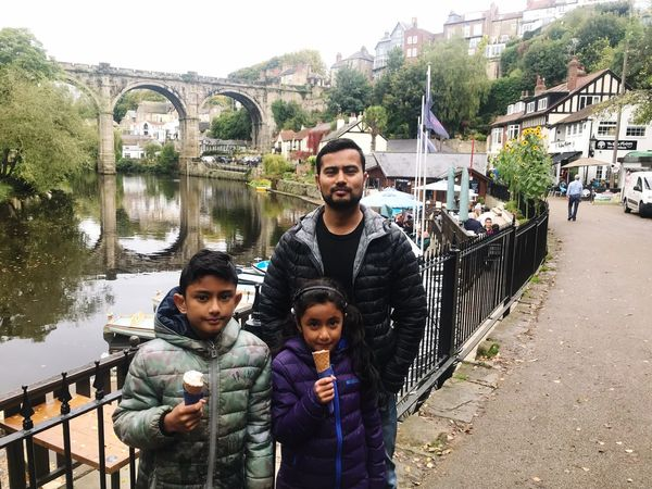 Real People Looking At Camera Water Mid Adult Men Lifestyles Bridge - Man Made Structure Portrait Young Men Built Structure Young Adult Architecture River Mid Adult Leisure Activity Day Outdoors Togetherness Standing Men Building Exterior Adam Miah Amelia Miah