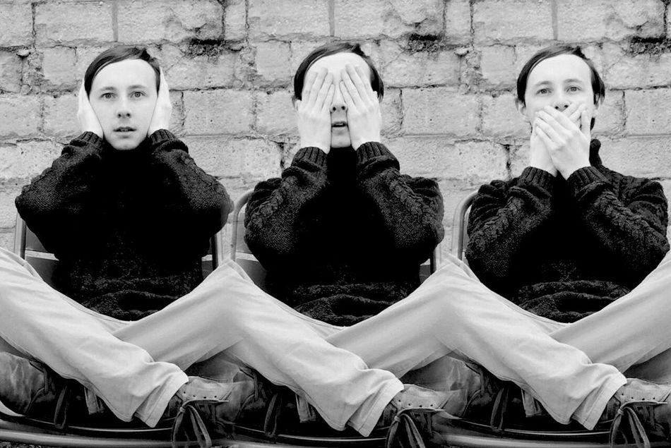 Rule Of Thirds Confucius Thethreewisemonkey Threemonkeys SeeNoEvil HearNoEvil SpeakNoEvil WayOfThinking Black And White Portrait B&W Portrait