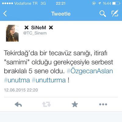 Turkey Türkiye özgecanaslan Unutma Unutturma