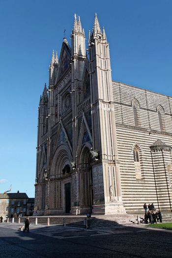 Orvieto, Italy Travel Travel Photography Traveling Architecture Blue Building Exterior Built Structure Clear Sky Day History Italian Italy Large Group Of People Orvieto Outdoors People Place Of Worship Real People Religion Sky Spirituality Travel Destinations