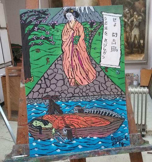 """The path, which is the end"" by Deniss Re Art ArtWork Japan Europen Artist Love ♥ Acrylic Paint Geisha Samurai Death"