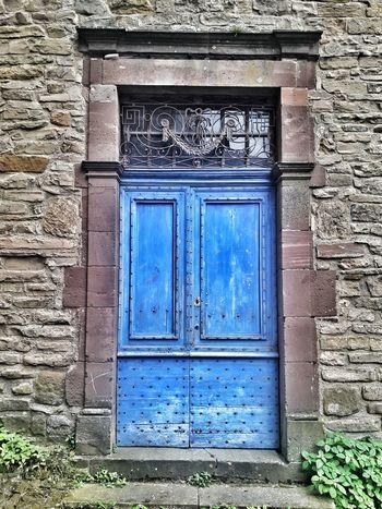 CORDES SUR CIEL Village France Doors Doorporn Blue Protection Door Safety Closed Wood - Material Close-up Architecture Building Exterior Built Structure Closed Door
