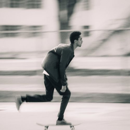 Skateboarding Skater Motion Blur Actionshot