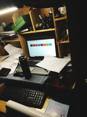 A Busy Day! Technology Desk Computer Computer Keyboard Indoors  Computer Monitor Office