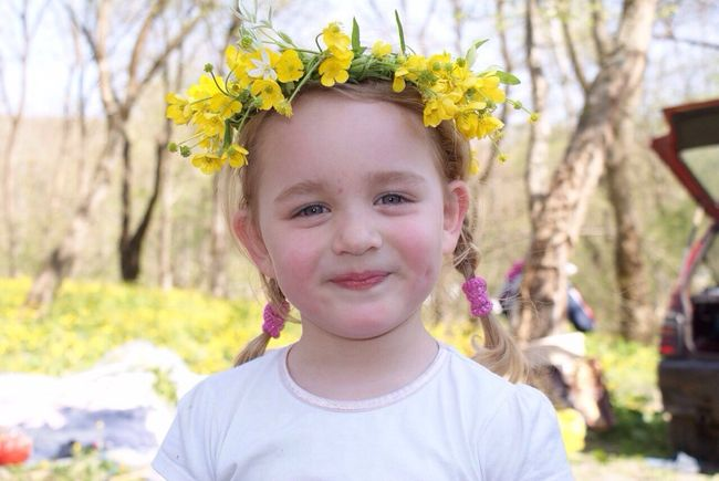 EyeEmNewHere Looking At Camera Portrait Childhood Real People Flower Front View Girls Focus On Foreground One Person Elementary Age Smiling Lifestyles Day Outdoors Tree Headshot Leisure Activity Cute Happiness Close-up