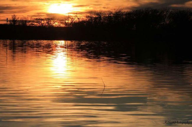 Lake Sunset Water Reflections Beautiful Outdoors Nature