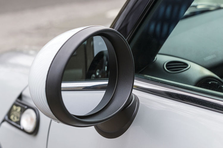 Oval Looking Back Rearview Mirror Bmw Mini Car Close-up Control Panel Focus On Foreground Glass - Material Land Vehicle Metal Mirror Mode Of Transportation Motor Vehicle No People Outdoors Reflection Roundish Selective Focus Side-view Mirror Transportation Travel Vehicle Mirror Vehicle Part White