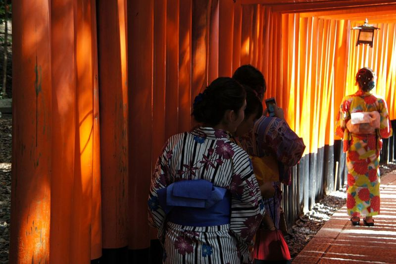 Night People Real People Men Flame Kyoto Curtain Standing Burning Japan Wallpaper Kimono Indoors  Togetherness Adult Adults Only Young Adult Two People Adventures In The City The Week On EyeEm Business Stories An Eye For Travel Orange Color Casual Clothing Indoors  Women