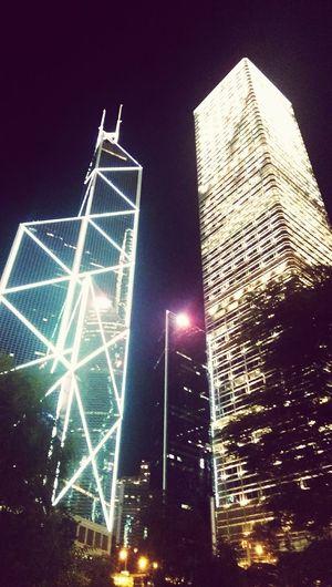 Geometric Shapes Hong Kong Cityscapes