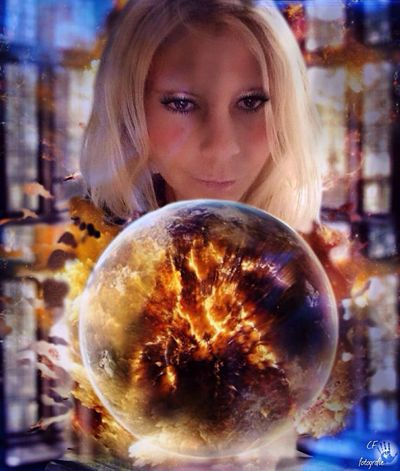Crystalball Vision Creative Photography Glow Fire Flashing  Creative Power Protection Atmospheric Enviromental Protection Collection Expressions Model