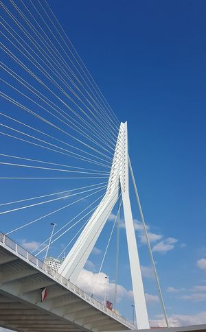 Connection Business Finance And Industry Bridge - Man Made Structure Blue Pattern Sky Day Outdoors No People City Architecture Rotterdam, Netherlands Rotterdam Harbor Bridge Over Water The Purist (no Edit, No Filter) Raw Photography Art Is Everywhere