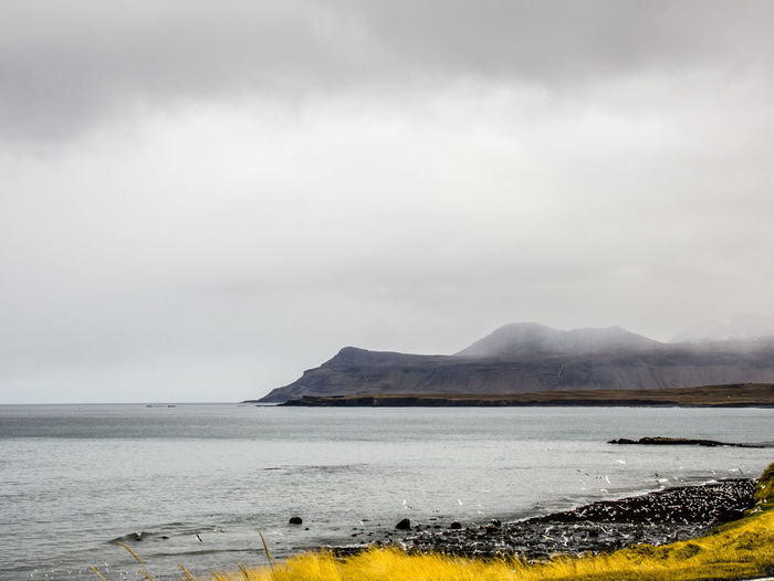 Water Sky Scenics - Nature Mountain Beauty In Nature Tranquil Scene Cloud - Sky Tranquility Nature No People Day Non-urban Scene Idyllic Fog Environment Outdoors Power In Nature Ocean View Iceland Iceland_collection