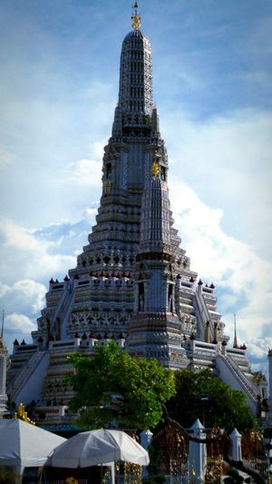 Wat Arun (Temple Of Dawn) Architecture Belief Building Exterior Built Structure City Cloud - Sky History Low Angle View No People Outdoors Place Of Worship Religion Sky Spire  Tall - High The Past Tourism Travel Travel Destinations