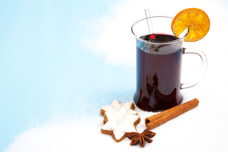 Fine served mulled wine Advent Beverage Christmas Christmas Fair Christmas Market Christmastime Copy Space Drink Glühwein Merry Christmas Merry Christmas! Mulled Wine Text Space Weihnachtsmarkt Wintertime