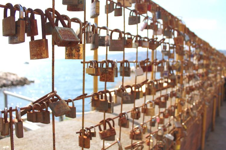 Locked in love Getty Images Best EyeEm Shot Canonphotography Canon1300d Padlock Lock Love Lock Hanging Security Protection Safety Large Group Of Objects Metal Railing Abundance Hope - Concept Positive Emotion Sky Love Luck Outdoors No People Day Fence My Best Photo The Art Of Street Photography The Street Photographer - 2019 EyeEm Awards