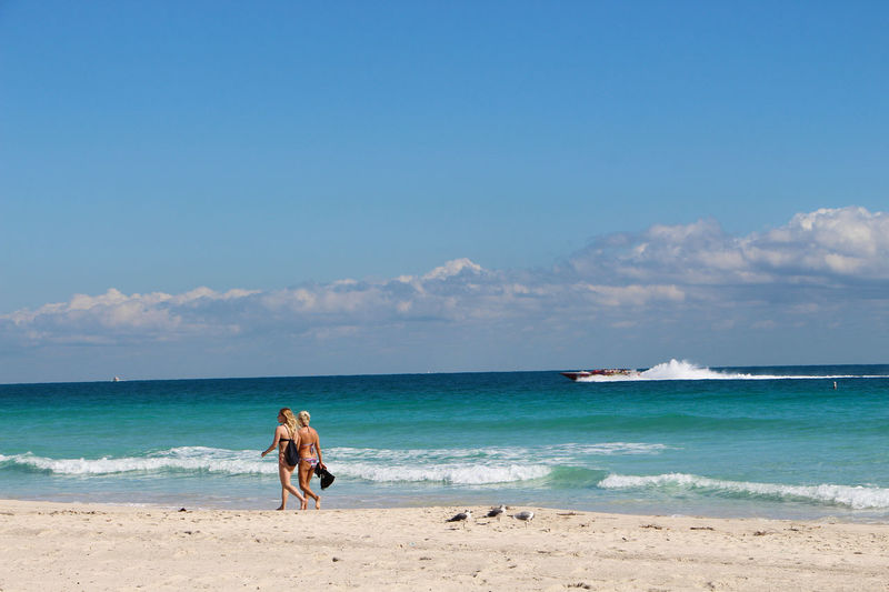 Beach Day Florida Life Horizon Over Water Miami Beach No People Outdoors Sand Sand & Sea Sea Sky Summer Vacations Water