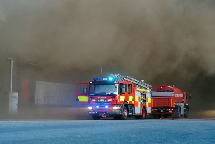Fire Fighting Fire Engines Smoke