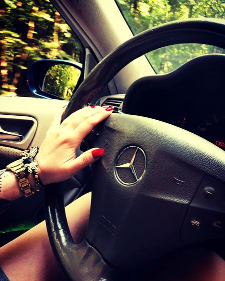 Peace And Quiet Love My Life  Love My Car Driving Relaxing Mercedes Car Transportation Hand Travel Women