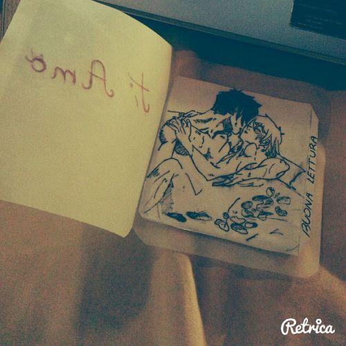 un piccolo segna libro fatto dal mio ragazzo.. Love Yaoi Book Manga Gayboy Uke Seme TI  Amô Boyfriend Instagay
