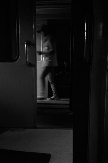 mati lampu Black And White Train