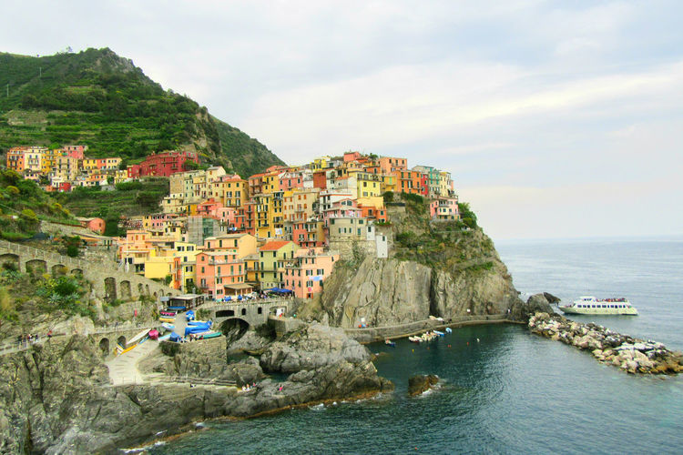 Architecture Beauty In Nature Cinque Terre Coastline Colorful City Colors Fishing Boat Italia Sea Toscana Town TOWNSCAPE Tuscany Water