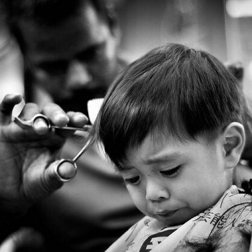 Black &white Indoor Barber Damansara Luthfihakim