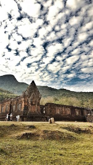 Nature Outdoors Building Exterior Built Structure Architecture LAO Pakse Beauty In Nature Trekking Ancient Civilization Ancient Architecture Temple Temple - Building Monk  Holy God