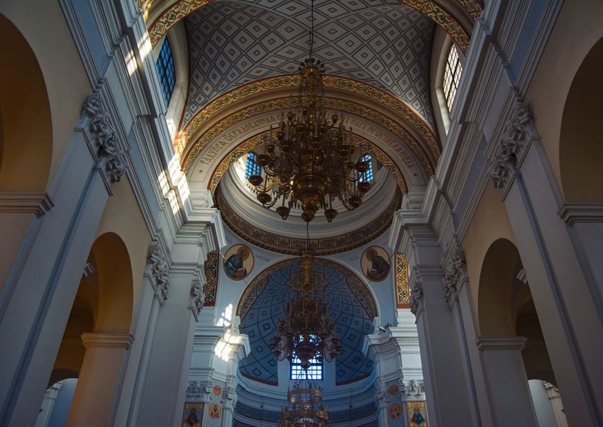 Cathedral Religion Architecture Religion Architecture Chirch Building Exterior Art Religion Art Light And Shadow Low Angle View From My Point Of View By Ivan Maximov Eyeem Photo The Week On EyeEm Vitebsk,Belarus Composition Traveling Indoors  Travel Destinations Beauty Architecture