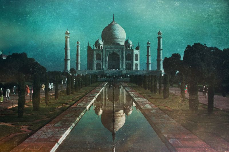 India Architecture Building Exterior Built Structure Travel Destinations Dome Travel Religion Tourism Water Spirituality Sky History The Past Outdoors Building Reflecting Pool