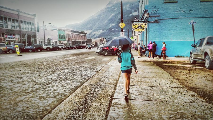 Silverton, Colorado Rainy Day Girl With Umbrella Rain Country Road Country Girl Breathing Space EyeEmNewHere