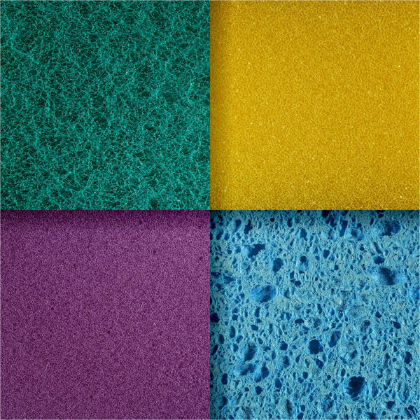 Abstract Blue Cleaning Close-up Collage Dishwashing Sponge Geometric Shape Green Multi Colored Multicolors  No People Pink Polyurethane Foam Square Textured  Washing Yellow
