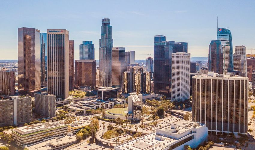 Daytime Photography Los Angeles, California La Drone  Dronephotography Aerial Downtown Skyscraper Architecture Building Exterior Cityscape Built Structure Urban Skyline California Dreamin