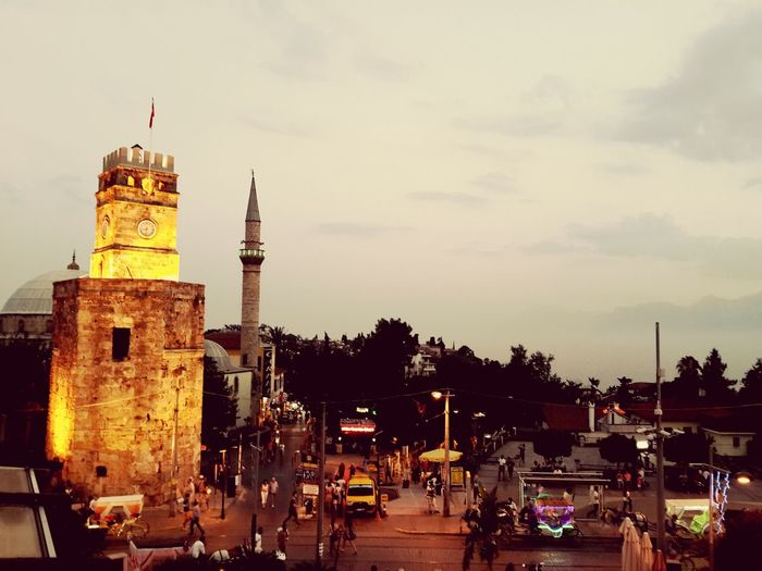 clock tower of antalya