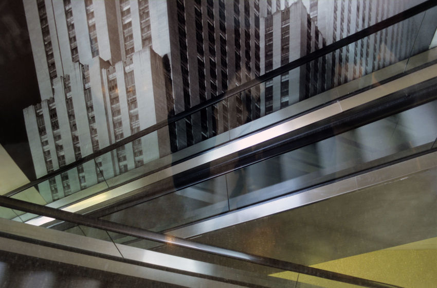 Crossing Escalators in a New York Building INTERTOURIST Interior Style New York City Architecture Building Exterior Buildings Built Structure City Consumer Day Decoration Escalator Escalators And Staircases Indoors  Low Angle View Modern Move No People Photo Art Railing Reflexions Skyscraper Tourism Tourism Destination Window