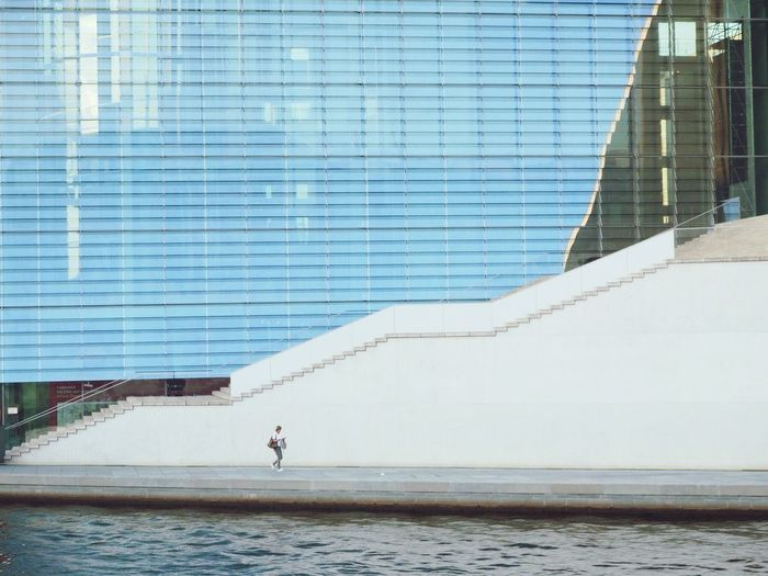 Berlin Architecture Built Structure Day Water Outdoors Building Exterior Real People One Person