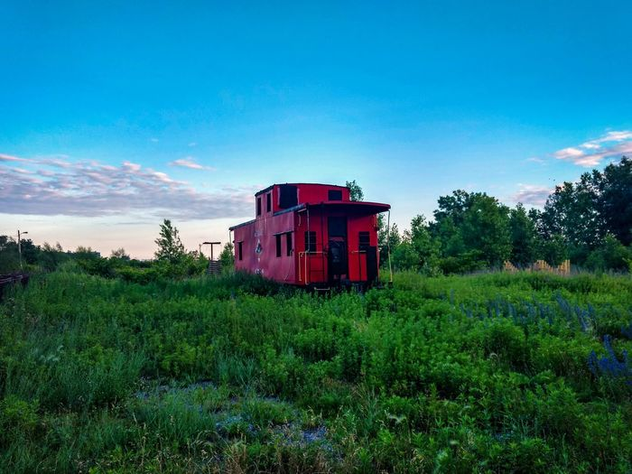 Abandoned No People Sky Outdoors Day Nature Grass Train Station Red Silo City Buffalo, NY The Week On EyeEm