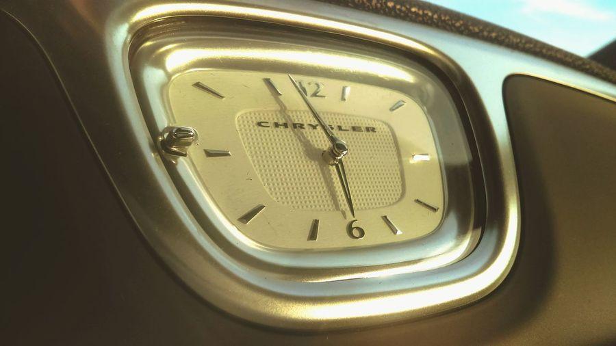 Milford Chrysler Chrysler First Eyeem Photo Car Cars Rosado Milford Chrysler 300 Clock Automobile Automotive Photography Car Interior Luxury Car Classy Time