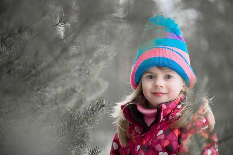 portrait of a little girl on the forest background Baby Fashion Child Childhood Childhood Memories Children Only Children Photography Children's Portraits Clothes Clothing Colors EyeEmNewHere Fashion Fashionphotography Girls Hat Latvia Little Little Girl Multi Colored One Girl Only One Person Portrait Smiling Winter Women Around The World The Portraitist - 2017 EyeEm Awards