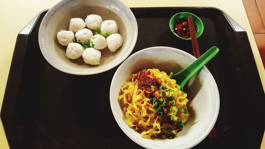 Fishballs Noodle Dim Sum Dumpling  City Plate Stuffed Gourmet Chinese Food Homemade Meat Bowl