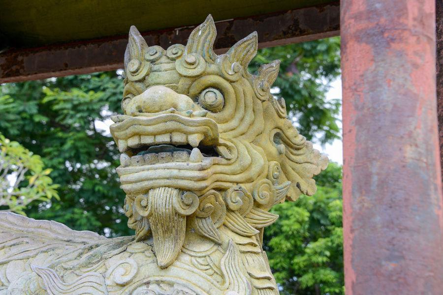 Hue's Imperial Enclosure Vietnam Dragon Huế Imperial Statue Vietnam Enclosure Temple Templephotography Vietnam Travel Vietnam Trip Vietnamphotography Vietnamtravel