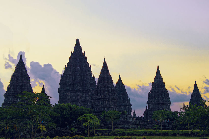 Ancient Ancient Civilization Architecture Biggest Building Built Structure Candi Destination Hindhu History Outdoors Prambanan Religion Spirituality Structure Sunset Temple Tourism Travel Yogyakarta