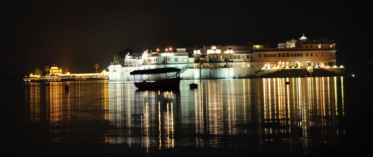 India Island Jaisamand Lake Landmark Nightphotography Rajasthan Udaipur