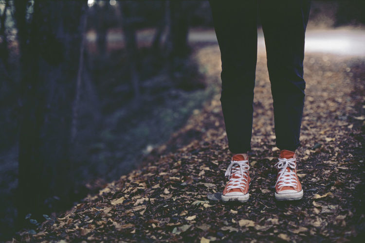 Woman with converse at belgrad forest