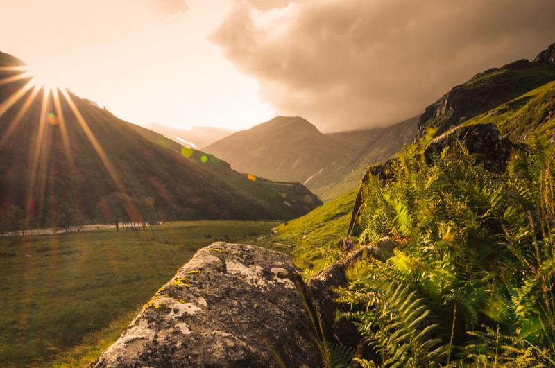 Hiking through the scottish highlands