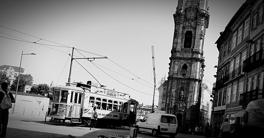 Hi! Check This Out Trolley Car Taking Photos Enjoying Life Blackandwhite Landscape ILoveStreets City Oporto Portugal Architecture Streetphoto_bw Street Photography Bnw_captures Bnwphotography Cityscapes Authentic Moments TakeoverContrast