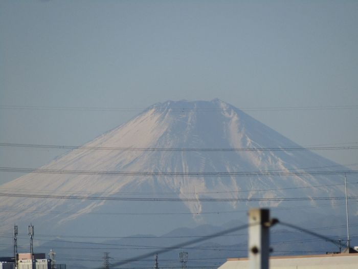 冬のご褒美 東京から電線越しの富士山 No Standard World Mt.Fuji Connection Day Outdoors Mountain